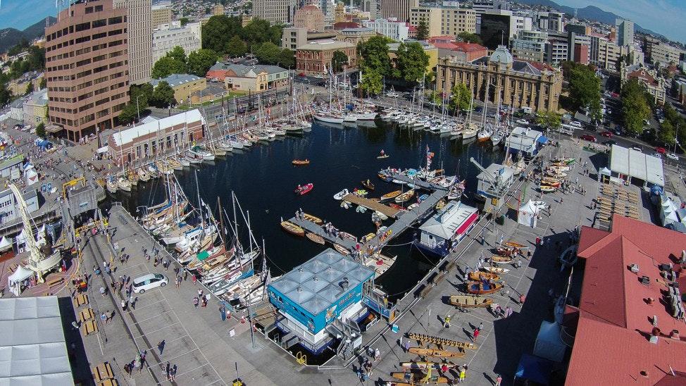 150207 Tasmania AWBF 2015 095946 - Aerial View, AWBF 2015, Hobart, Tasmania, Australia