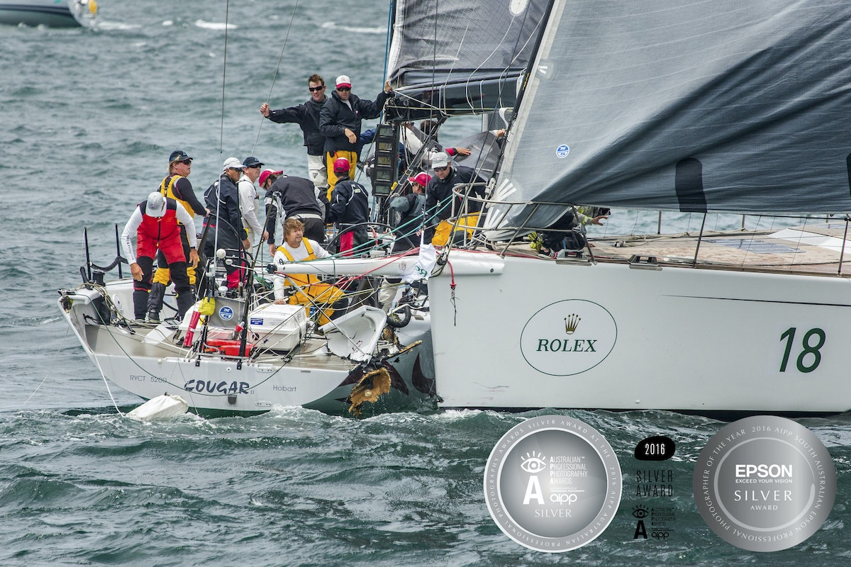 Silver Medal Image AIPP 2016 - - This 2016 National and State Silver Award  image was taken at the start of the 2016 Sydney to Hobart Yacht Race and is...