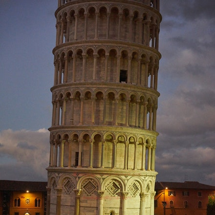 'The' Tower at dusk. - Pisa