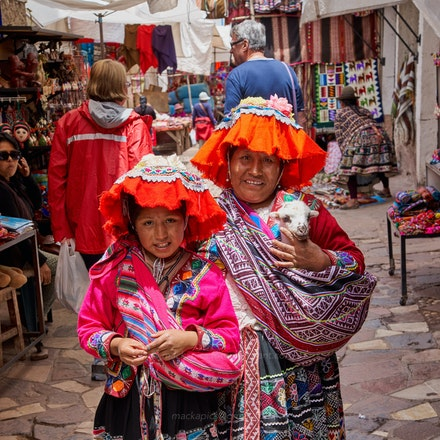 Girl, woman, llama - Another tourist trap, but easy to fall for with the cute-factor. Pisac, Sacred Valley