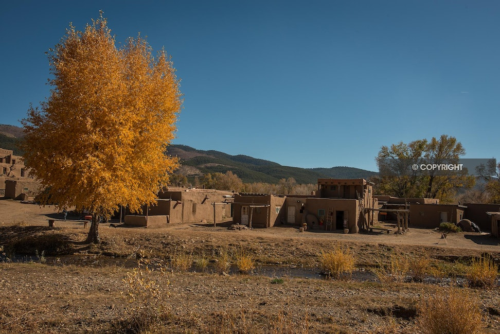 Golden Afternoon - Taos Pueblo, New Mexico