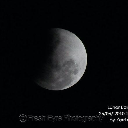 Eclipse - Partial lunar eclipse from Kimba in July 2010