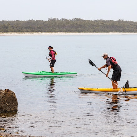 141115_jbk_8802 - Customers testing kayaks and SUP's during the Jervis Bay Kayaks demo day at Huskisson, NSW (Australia) on November 15 2014. Photo: Jan...