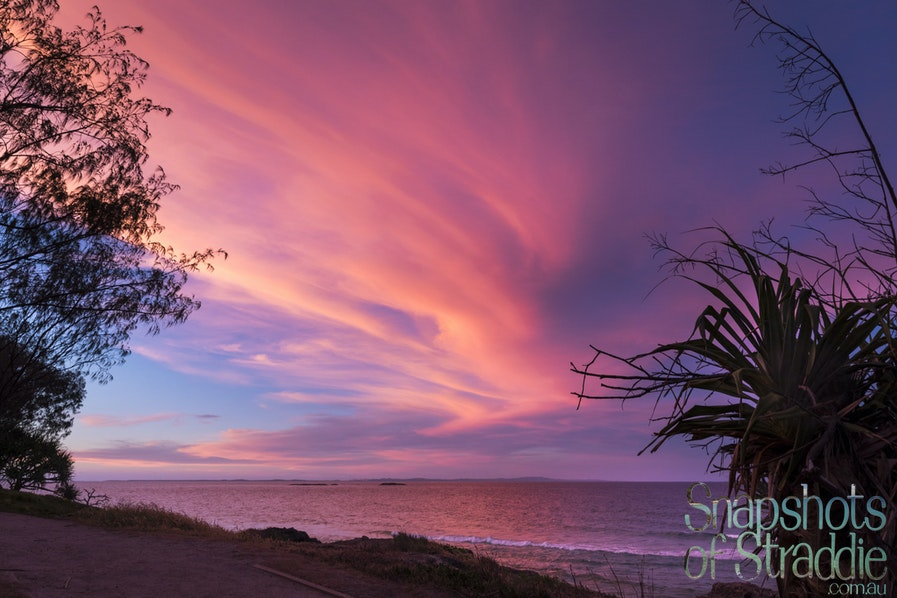 A-0502-0028- Spectacular Sweeping Sunset at Deadmans Beach - Snapshots of Straddie. Photographs from North Stradbroke Island, Queensland Australia. www.snapshotsofstraddie.com.au....