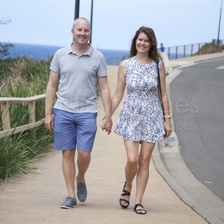 Carlie and Rob pre-wedding - At Maroubra before the wedding.