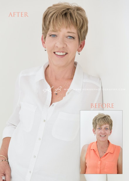 Before & After - Beautiful tranformation and portraits by Logan City Photographer Kerry Bergman