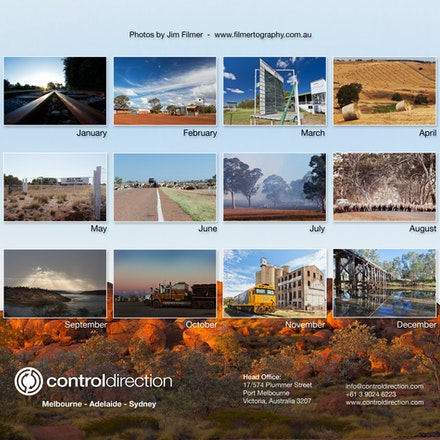 Calendar rear page - Corporate calendar - rear overview page - Australian images