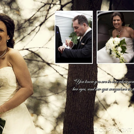 Wedding-Album-Layout-3web - The story of their wedding day, within an album or coffee table book layout.