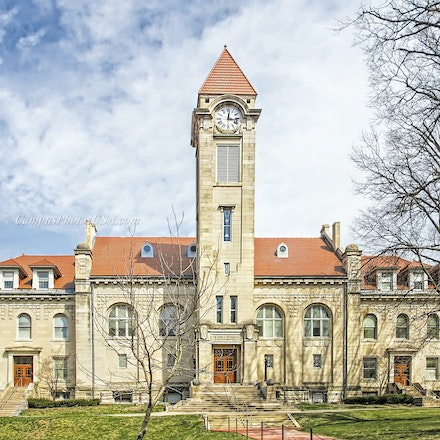 Student Building,Indiana University/Color Photo_2436_6132_2_ - Photo by Campus Photos USA. The Student  Building on the Campus of Indiana University, Bloomington,...