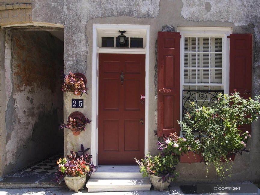 Charleston Still LIfe - Classic home street entrance in historic Charleston, SC.