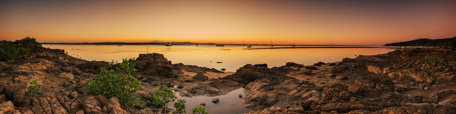 Serenity at Sunset, 1770 - This is a panorama taken after sunset at a little village on the Discovery Coast of Queensland at Seventeen Seventy.  Want...
