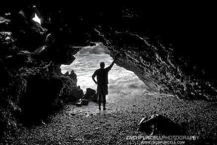 Cave Silhouette - Location: Wai'anapanapa Cave