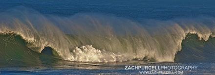 Waimea Spray - Location: Waimea Bay Date: January 2011  Time 11:18 AM ISO:200 Shutter Speed:1/400 sec. Aperture:11 Focal Length:230mm