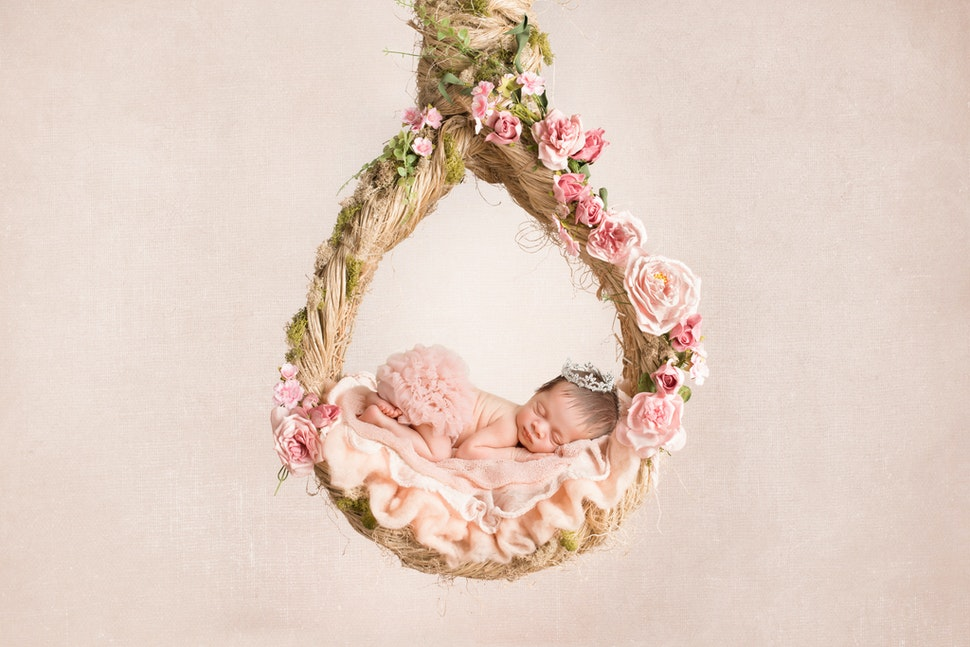 San Diego newborn hanging Rope Basket wreath Pink Floral - newborn baby portrait San Diego newborn Chula Vista newborn  twin newborns photography photographer artistic...
