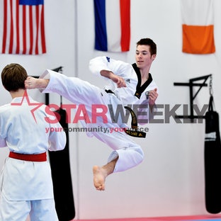 Taekwondo teen is back - Liam Wilson is back in the thick of taekwondo action. Photos by Damjan Janevski.