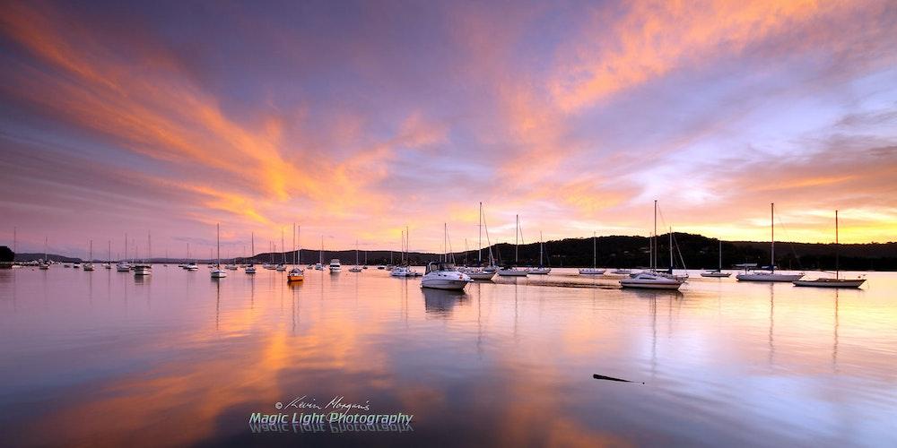 Gosford Sailing Club Sunset 09 June 2013 IMG_9358 1680 panorama