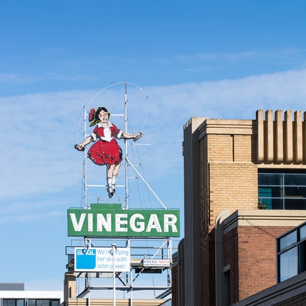 Abbotsford - Skipping Girl - City of Yarra Project - The iconic Skipping Girl Vinegar sign, Victoria Street Abbotsford