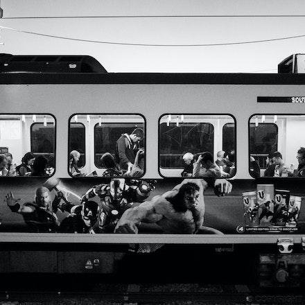 Moving Train at Vic Park