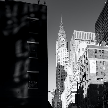 Crossing the Road in NYC - Crossing the road in NYC with the Chrysler Building in the background