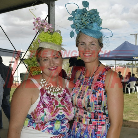 160312_SR29864 - Kate Rose and Katherine Bowler at the Longreach Races, Saturday March 12, 2016.  sr/Photo by Sam Rutherford