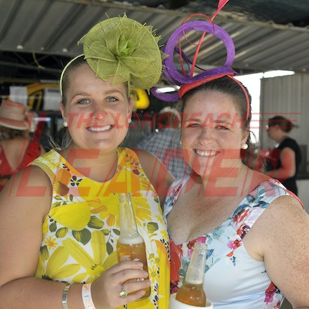 160312_SR29888 - Maggie Spencer, Siobhan Rodgers at the Longreach Races, Saturday March 12, 2016.  sr/Photo by Sam Rutherford