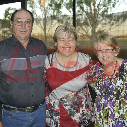 151107_SR24861 - Michael Waugh, Christine Waugh, marg Walsh at the Sportsmans Dinner in Barcaldine, Saturday November 7, 2015.  sr/Photo by Sam Rutherford.