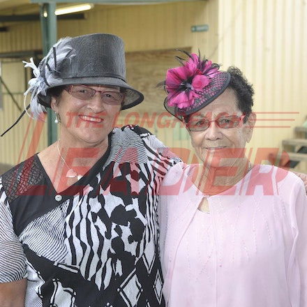 160430_SR25415 - Irene Clews and Viv Johnson at the Tree of Knowledge Cup Race day in Barcaldine, Saturday April 30, 2016.  sr/Photo by Sam Rutherford