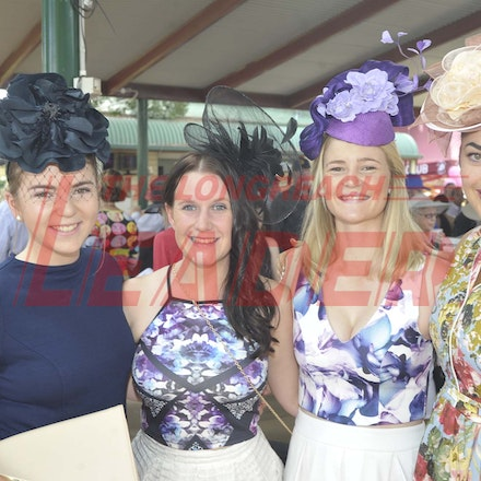 160430_SR25436 - Bella Williams, Roxy Smith, Jess Kelly and Kate Rooney at the Tree of Knowledge Cup Race day in Barcaldine, Saturday April 30, 2016....