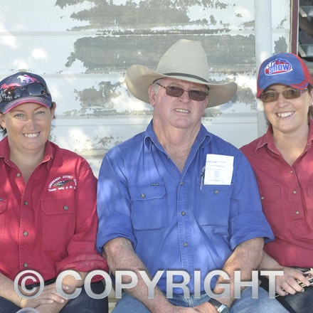 160709_SR22533 - Mandy Egan, Peter Ballard and Courtney Sitters at the Ilfracombe Races, Saturday July 9, 2016.  sr/Photo by Sam Rutherford