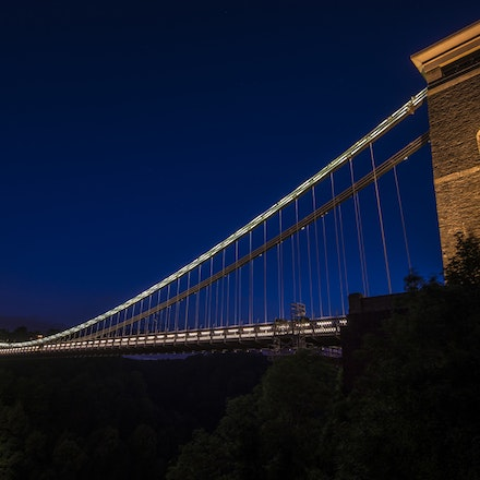 Night views of the Clifton Suspension bridge